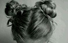Two messy buns