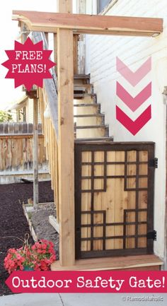 Free Outdoor Safety Gate Plans (great for kids and pets!) remodelaholic.com #safety #gate #kids #DIY @3MDIY