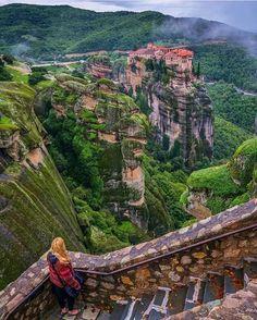 monasterio de Meteora en Kalambaka Grecia, tambien conocidos como los Meteoros. Grecia