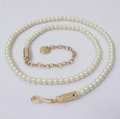 2016 fashion women's long belts, Leisure waist chain Metal pearl black / white belt for women accessories Pearl Chain, Pearl Beads, White Belt, Black White, Baby Girl Pictures, Chain Belts, Fashion Belts, Hair Beads, Belts For Women