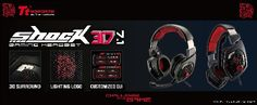 TteSPORTS SHOCK 3D 7.1 surround sound headset Immerse yourself in-game