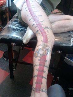 Marine Corps tattoo Usmc, Marines, Marine Corps Tattoos, Military Tattoos, Firefighter, Tatting, Body Art, Navy, Air Force