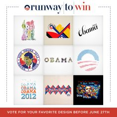 A few artists put their talent in play for the President. Cast your vote by June 27th: http://OFA.BO/8sV7fg