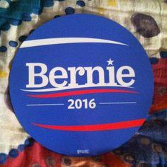 I finally have Bernie swag for my car!! <3 #feelthebern