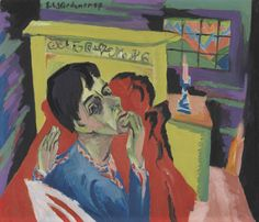 """mauveflwrs: """"Ernst Ludwig Kirchner - Self-Portrait as a Sick Person (1918/30) """""""