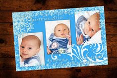 Baby Boys 1st First Christmas Card with by InvitesandDelites