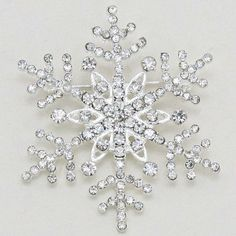 Rhinestone Snowflake Brooch- Perfect for winter themed wedding.