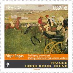 The racing field - Edgar Degas Artwork
