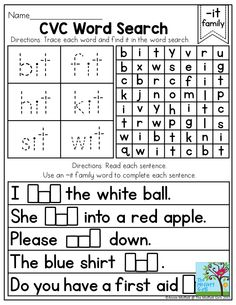 CVC Word Search- How to build fluency and confidence using basic CVC words in multiple ways!