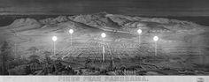 Colorado Springs city view with Li-Fi towers