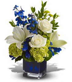 Birthday Serenade In Blue Flowerama Columbus Florist Same Day Flower Delivery