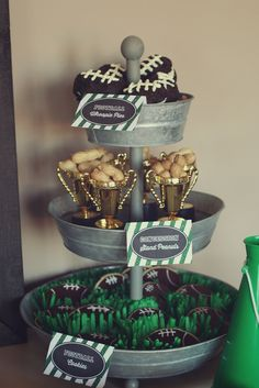 Football Birthday Party Ideas    Catch My Party #superbowl #football #party