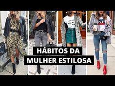 5 HÁBITOS DA MULHER ESTILOSA - YouTube Look Blazer, Youtube, My Style, Jeans, Womens Fashion, T Shirt, Clothes, Outfits, Instagram