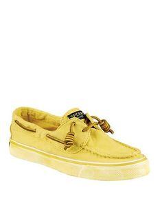 """<ul> <li>Classic boat shoes remade in hot-hued canvas</li>  <li>Rubber platform, 1""""</li>  <li>Canvas upper</li>  <li>Square toe</li>  <li>Fabric lining</li>  <li>Lightly padded insole</li>  <li>Rubber sole</li>  <li>Imported</li> </ul>"""