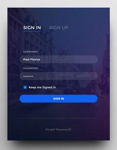 Login Form by Paul Flavius Nechita by ui. Login Page Design, Footer Design, Web Ui Design, Web Design Company, Flat Design, Site Portfolio, Free Printable Business Cards, Mobile Login, Web Design Tutorial
