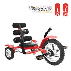 @Overstock - Give your child lots of fun memories with this unique three-wheeled cruiser that features single-speed gearing and hand-caliper brake systems. With its steel frame and free-wheel mechanism, this cruiser offers comfort, mobility, and safety.http://www.overstock.com/Sports-Toys/Mobo-Mini-Red-12-inch-Luxury-3-wheeled-Cruiser/6078266/product.html?CID=214117 $199.00