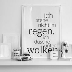 Think positiv - and remeber: Rain is liquid sunshine! Words Quotes, Sayings, Art Quotes, German Quotes, German Words, Learn German, More Than Words, True Words, Cool Words