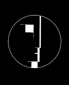 "Bauhaus bassist David J claims to have ""stolen"" this half-face/half-building logo in 1978, though he doesn't say where from. Obviously the building motif is appropriate, given that the band's name was inspired by an architectural movement."