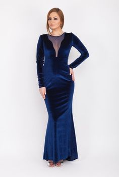 Rochie eleganta din catifea 1772 -  Ama Fashion Dresses With Sleeves, Formal, Long Sleeve, Style, Fashion, Preppy, Swag, Moda, Sleeve Dresses