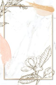 Rectangle frame with brush strokes and outline flowers decoration on marble background vector Words Wallpaper, Flower Background Wallpaper, Framed Wallpaper, Flower Backgrounds, Pattern Wallpaper, Wallpaper Backgrounds, Brush Background, Wallpapers, Girl Baby Shower Decorations