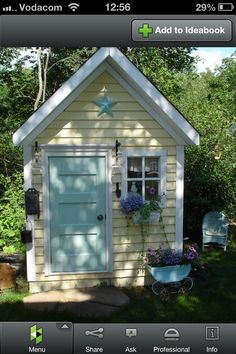 12 Awesome Potting Shed repurposed designs for your backyard outdoor space Garden Shed Ideas Design No. Build A Playhouse, Playhouse Outdoor, Playhouse Ideas, Modern Playhouse, Garden Playhouse, Girls Playhouse, Childrens Playhouse, Shed Design, Garden Design