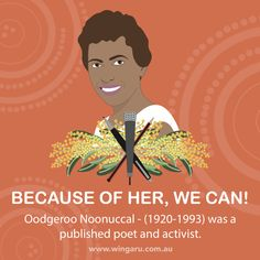 We are so excited about this year's NAIDOC theme, 'Because of her, we can!'. The theme celebrates and pays tribute to Aboriginal and Torres Strait Islander women and their invaluable contributions to communities. Check out our platform for NAIDOC resources, including lessons on Oodgeroo Noonuccal a poet and activist, and the first Aboriginal person to publish a book of verse. #Aboriginaleducation #NAIDOC #Beacuaseofherwecan #teacherresources