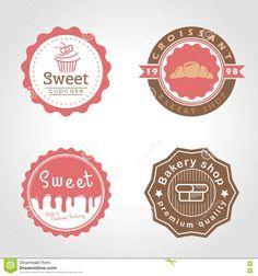 Sweet Cupcake And Bakery And Milk Shop Circle Logo Vector Illustration Design Stock Vector - Image: 78011992 Logo Doux, Sweet Logo, Cake Logo Design, Mickey Mouse Art, Cupcake Bakery, Milk Shop, Sweet Cupcakes, Bakery Logo, Circle Logos
