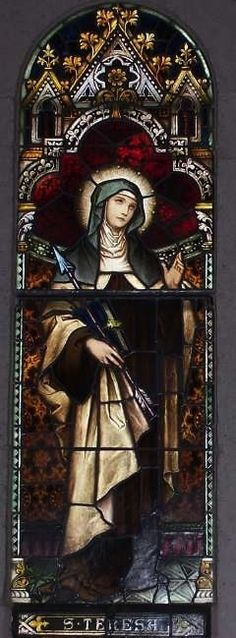 Teresa of Avila, Stained Glass Window at St. Joseph's Catholic Church, Macon, GA