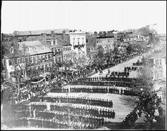 Abraham Lincoln Funeral Procession on Pennsylvania Ave. - April 19, 1865