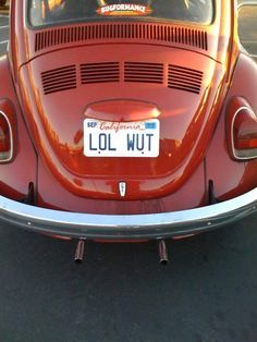 Hilarious Vanity License Plates   For Shits And Giggles