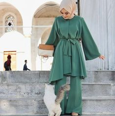 Affordable prices on new tops, dresses, outerwear and more. Modern Hijab Fashion, Street Hijab Fashion, Abaya Fashion, Modest Fashion, Fashion Dresses, Hijab Outfit, Hijab Dress, Dress Outfits, Turkish Fashion