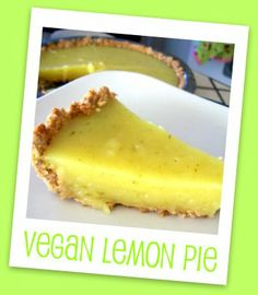 (Almost) Fat-free Vegan Lemon Pie | Jellibean Journals. I'll make a different crust that has less sugar.