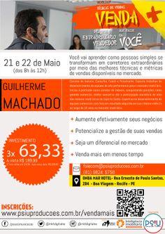 Curso Venda+ Desperte o Evendedor que Existe em Você com Guilherme Machado em Recife