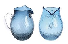 Glass Owl Pitcher. Looking for some summer lemonade and ice tea pitchers and this one is at the top of my list!