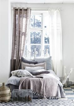 Broad selection of home decor and high quality design products for the living room, kitchen, bathroom, bedroom and a large selection of furniture, artificial flowers and candles. Interior, Home Bedroom, Bedroom Interior, Curtains Bedroom, Home Decor, Room Inspiration, Apartment Decor, Interior Design, Bedroom Vintage