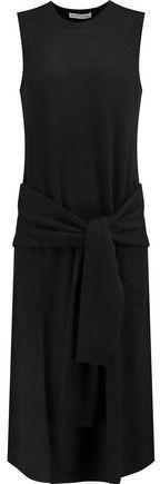 Autumn Cashmere Tie-Front Cashmere Dress