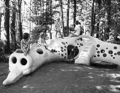 #TBT Mercer Island's Playground Dragon, Washington, 1965 and 2013 - Playscapes