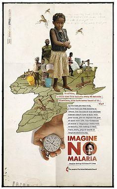 Imagine No Malaria print ads