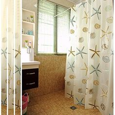 HG k aHG Sea Shells Shower Curtain with Hooks59 X 59 SET2 -- Learn more by visiting the image link. Note:It is Affiliate Link to Amazon.