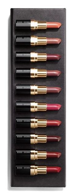 This limited edition set includes 10 of Bobbi Brown's original lip colors. From pale salmon to deep blackberry to classic red, all 10 shades are brown-based, which is the secret behind their incredible wearability.