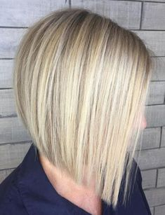 Hottest Blunt Blonde Bob for Straight Hairstyles Ideas