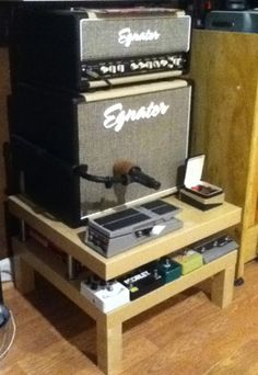 IKEA Hackers: LACK Amp Table    -not gonna use for AMP but can be for other purposes
