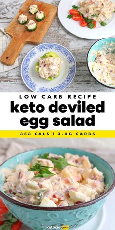 Best Deviled Egg Salad Recipe (Low Carb) - When you are craving something filling and satisfying but can't afford spending hours in the kitchen our low carb deviled egg salad will save the day. Creamy and tangy, with a subtle kick from the mustard, it's also great for meal prepping as you can make a big batch and keep it in the fridge for up to 5 days.