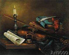 Elisabeth Paetz-Kalich - Stilleben Mit Geige