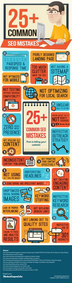 25+ Common SEO Mistakes That Are Killing Your Website (Infographic)  | #SEO #infographic #infographics