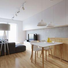 Małe mieszkanie: wnętrze w szarościach i beżach  - zdjęcie numer 2