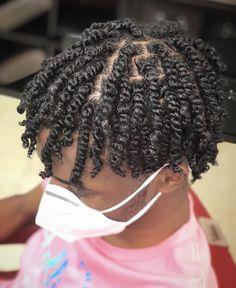Mens Twists Hairstyles, Black Kids Braids Hairstyles, Dreadlock Hairstyles For Men, Twist Hairstyles, Hair Twist Styles, Curly Hair Styles, Natural Hair Styles, Twist Curls, Twist Braids