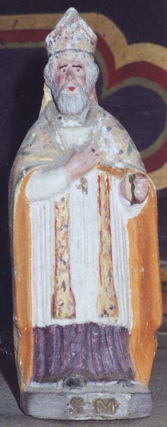 Eglise Saint-Martin de Bournan (37240) - Statuette de saint Martin (date du XIXe siècle, inscrite au titre des monuments historiques).