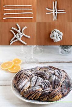 Narancsos-csokoládés fonott kalács - Kifőztük, online gasztromagazin Almond, Bakery, Muffin, Sweets, Cookies, Foods, Crack Crackers, Food Food, Food Items