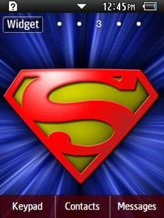 Anime Superman Samsung Corby 2 Theme Menu